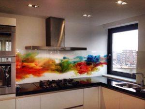 Achterwanden keuken: glas